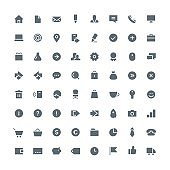 Business total icon set 64
