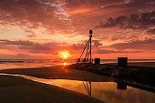Sunrise on the Lincolnshire coast