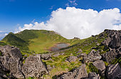 Hallasan volcano crater on Jeju Island in South Korea.