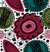 Colorful decorative pattern in scandinavian style.