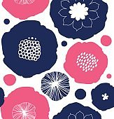 Floral decorative seamless pattern.