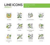 Animals - line design icons set