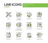 Fishes - line design icons set