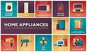 Home Appliances -flat design icons set
