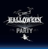 Halloween party label