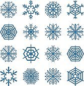 Set of snowflakes, vector illustration.