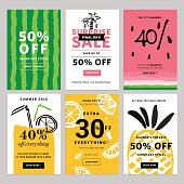 Hand drawn design promotional banner templates