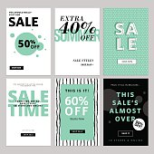 Set of website banners and emails for sale