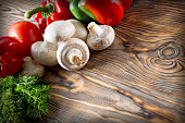 vegetable on the wooden background