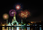 Countdown 2016 at Wat Arun temple.