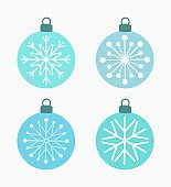 Winter snowflake baubles