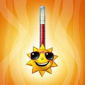 Hot Sun Thermometer Temperature