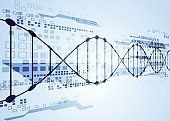 Science template, DNA background.