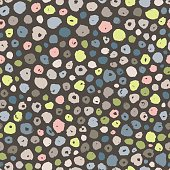Colorful Hand Drawn Seamless Dots