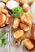 Fried pastry with potato