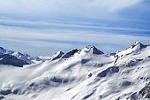 Snowy off-piste slopes