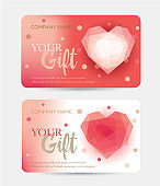 Gift card for Valentine's Day. Gift certificate for a birthday.