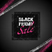 Black Friday sale title symbol [Rough texture paper]