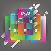Mobile device screen mockup