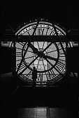 Woman in the Musee d'Orsay Clock Tower