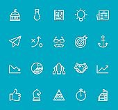 New Business - line icon set
