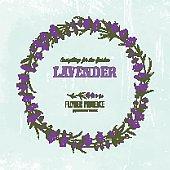 The lavender elegant wreath