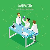 Pharmaceutical Laboratory Isometric Composition