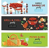Family BBQ Party Banners