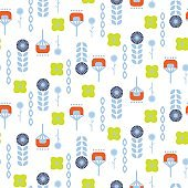 Abstract folk floral art pattern seamless vector
