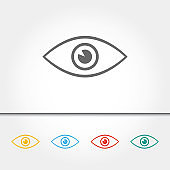 Eye Single Icon Vector Illustration