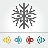 Snowflake Single Icon Vector Illustration