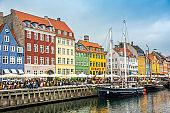 Copenhagen Cityscape Nyhavn Denmark