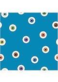 Eyes seamless pattern on blue background. Eyeballs iris concept vector illustration