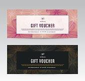 Gift Voucher template for Spa, Flower Spring Hotel Resort, Vector illustration