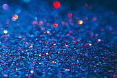 Abstract shining glitters blue makeup background