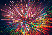 Abstract background of colorful lines in motion