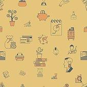 Business and Finance Seamless Pattern