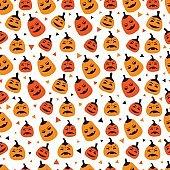 Pumpkins seamless pattern