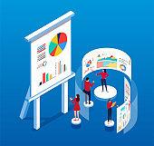 Isometric business data analysis
