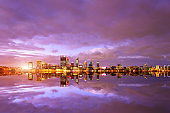 Perth Cityscape at Sunset, Australia