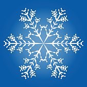 Snowflake Blue Background