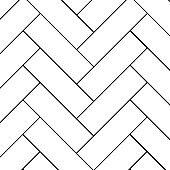Outline vintage wooden floor herringbone parquet vector pattern. Illustration of flooring parquet design texture