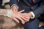 wedding rings in wedding ceremony