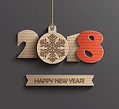 Modern Happy New Year 2018 design.