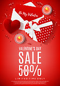 Red flyer for Valentine's Day sale