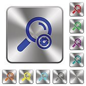 Search engine optimization rounded square steel buttons