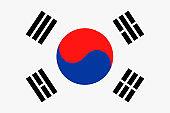 South Korea Flag Vector Flat Icon