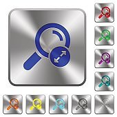Extending search results rounded square steel buttons