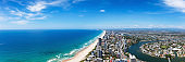 Panoramic view of Broadbeach on Gold Coast