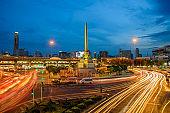 Cityscape of Bangkok in Thailand at night